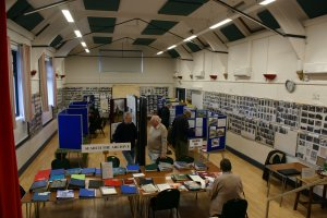 Image of the Local Archive exhibition held in the Village Hall
